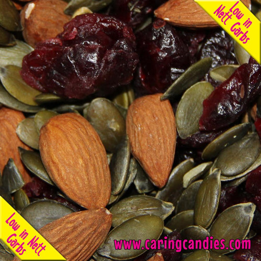Multisnack Nuts: Cranberry, Almond and Pumpkin Seed Mix 1kg - Caring Candies Online South Africa - Certified Halaal, Certified Kosher, Dairy Free, Gluten Free, Nuts, Seeds, Suitable for Banti