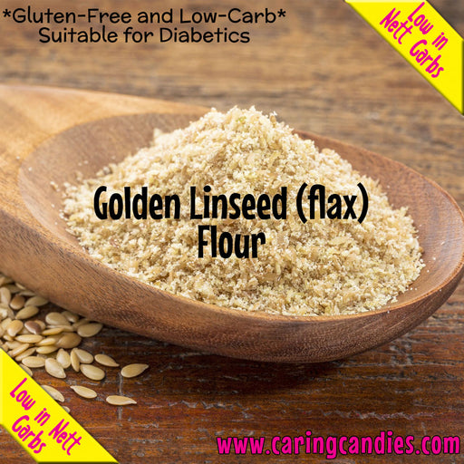 Buy best Flour: Golden Linseed 1kg by Multisnack | Caring Candies  - Banting, Dairyfree, Dry Ingedients, Flour, Glutenfree, Halaal, Keto, Kosher, Low Carb, Sugarfree, Suitable for Diabetics,