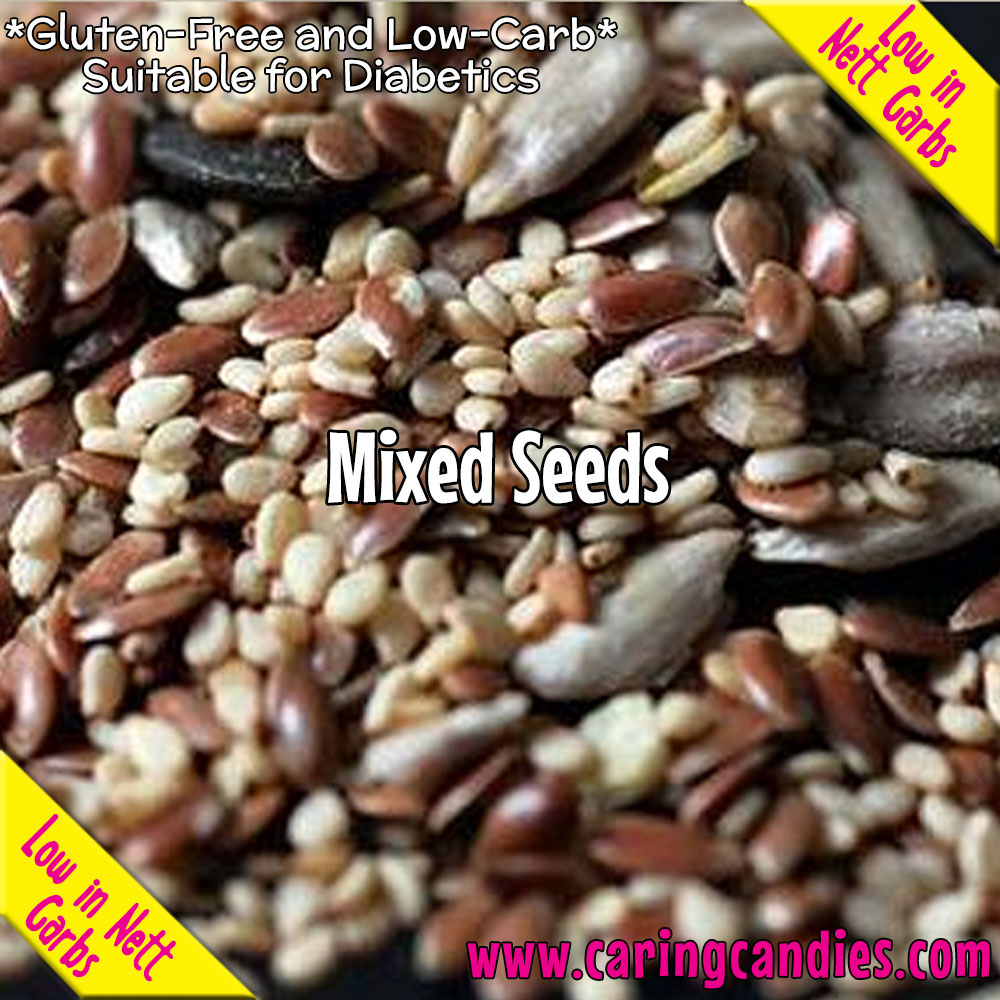 Buy best Seeds: Mixed Seeds 1kg by Multisnack | Caring Candies | Banting, Dairyfree, Dry Ingredients, Glutenfree, Halaal, Keto, Kosher, Low Carb, Seeds, Sugarfree, Suitable for Diabetics, Veg