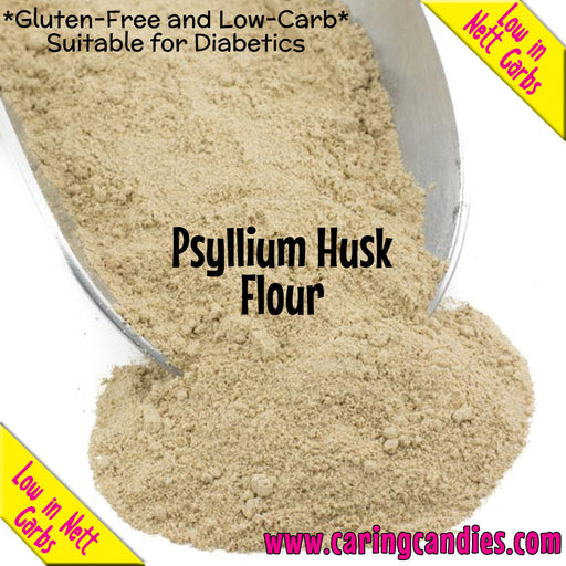 Buy best Flour: Psyllium Husk 1kg by Multisnack | Caring Candies  - Banting, Dairyfree, Dry Ingedients, Flour, Glutenfree, Halaal, Keto, Kosher, Low Carb, Sugarfree, Suitable for Diabetics, V
