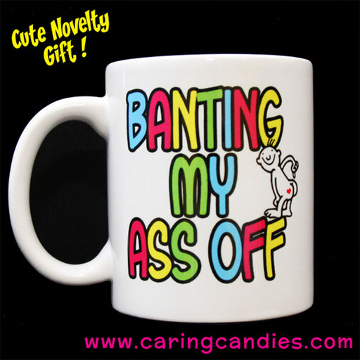 Buy best Novelty Mug: Banting My Ass Off by Caring Candies | Caring Candies  - Banting, Diabetics, Keto, Low Carb, Mug, Non-Edibles, Novelty, Sugarfree, Suitable for Diabetics