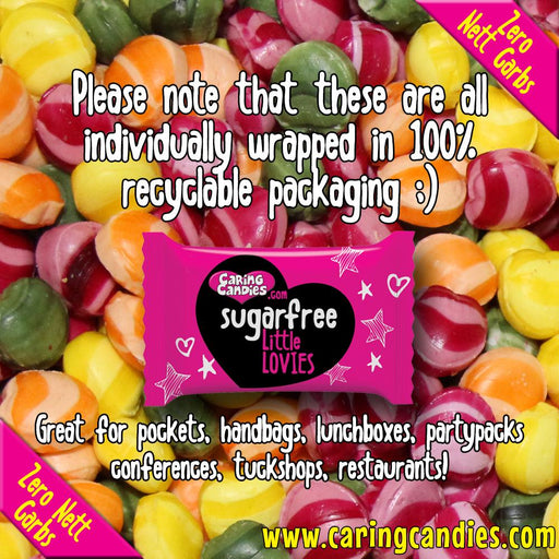 Caring Candies Bulk Saving: 1kg Sugar free ASSORTED SOURS Little Lovies Sweets - Caring Candies Online South Africa - 1kg Little Lovies Catering Packs, Certified Halaal, Certified Kosher, Dai