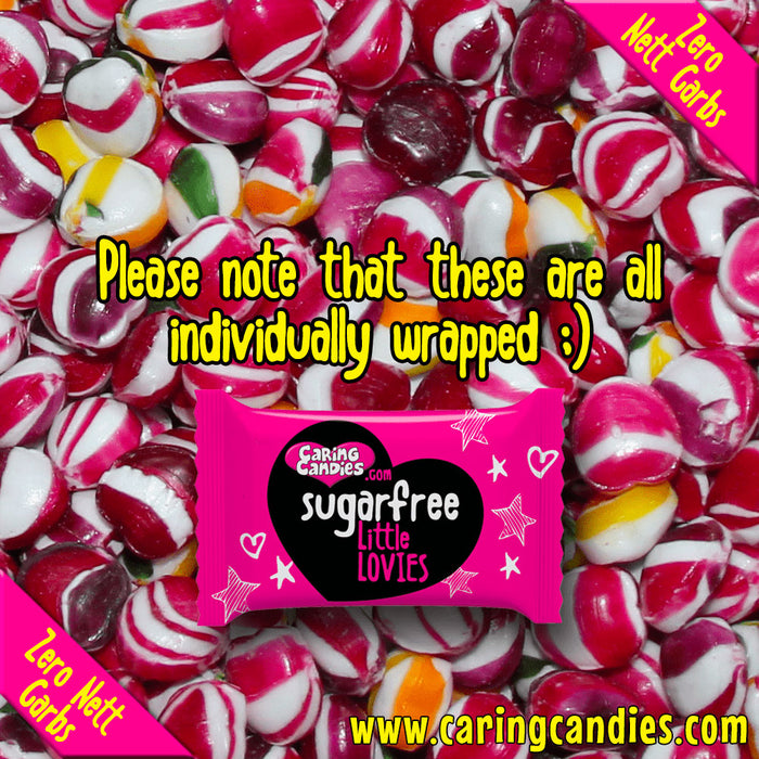 Caring Candies Bulk Saving: 1kg Sugar free ASSORTED FRUITS Little Lovies Sweets - Caring Candies Online South Africa - 1kg Little Lovies Catering Packs, Certified Halaal, Certified Kosher, Da