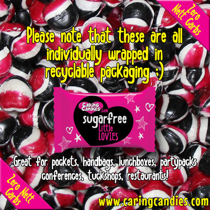 Caring Candies Bulk Saving: 1kg Sugar free LIQUORICE  Little Lovies Sweets - Caring Candies Online South Africa - 1kg Little Lovies Catering Packs, Certified Halaal, Certified Kosher, Dairy F