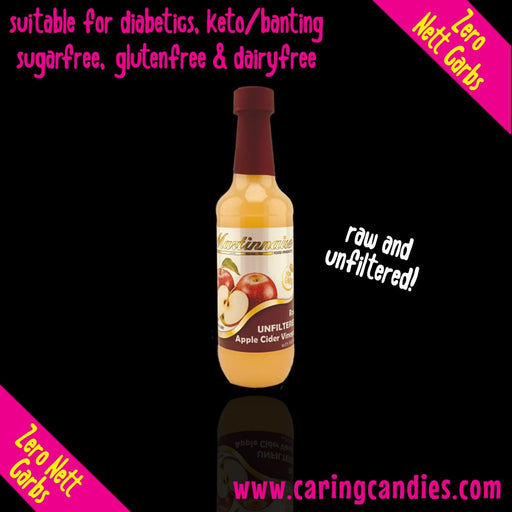 Martinnaise Martinnaise Raw Unfiltered Apple Cider Vinegar 125ml - Caring Candies Online South Africa - Dairy Free, Gluten Free, Suitable for Banting, Suitable for Diabetics, Suitable for Veg