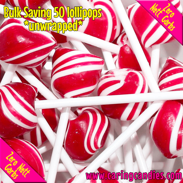 Buy best Bulk Saving: 50xSugar free RASPBERRY Doc's Pops Lollipops by Caring Candies | Caring Candies | 50xDocspops, Banting, Candida, Dairyfree, Glutenfree, Halaal, Keto, Kosher, Lollipops,