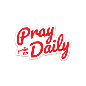 Pray Daily Sticker