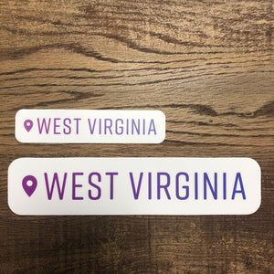 West Virginia Location Sticker