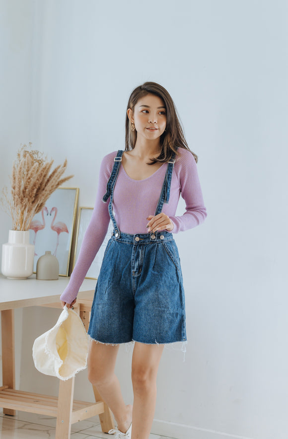 Vera Suspender Denim Shorts