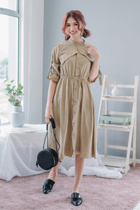 Jayne Long Sleeve Dress in Oats