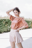 WOMEN Printed Word Oversize T-Shirt In Brown