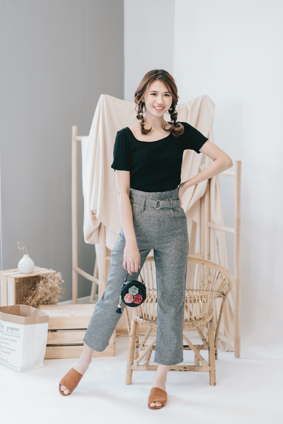 Lily High Waist Pegged Pants