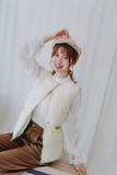 Snow White Vest Coat