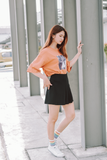 Darlin Printed Word Oversize T-Shirt In Orange