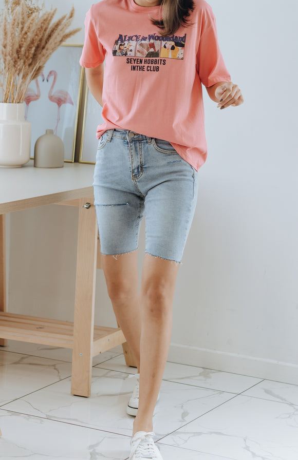 Zara Denim Bermuda Ripped Shorts