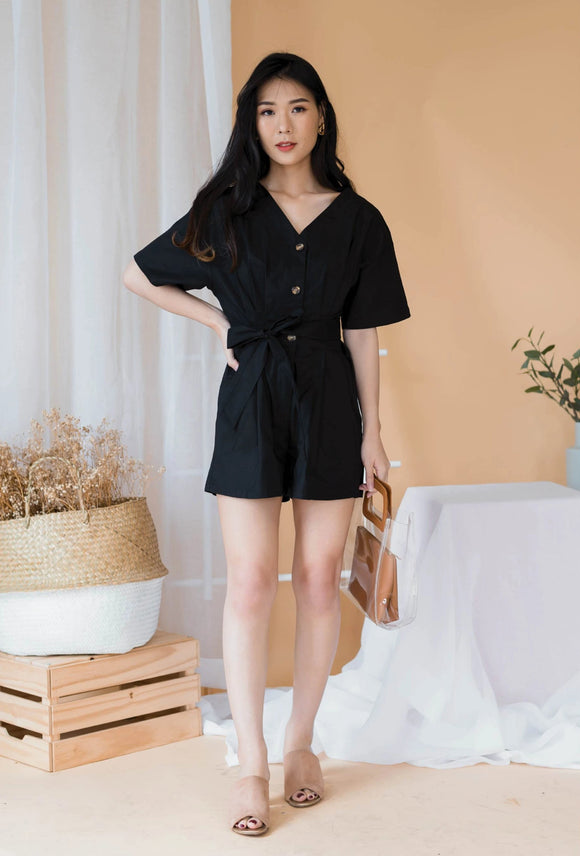 Spring Romper In Black