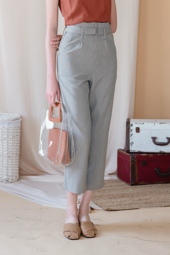 Lob High Waist Peggy Trousers ( Belt Included )