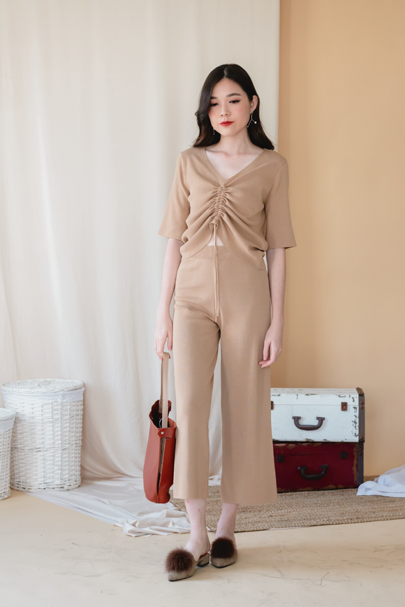 Autumn Winter Two Piece Set in Brown
