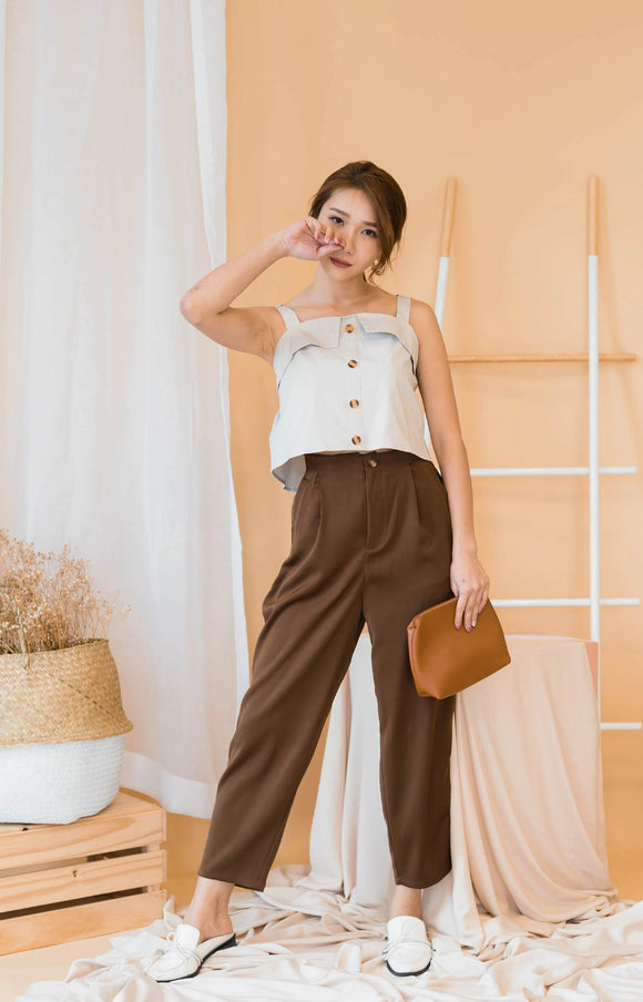 Amuse Peggy Trousers In Brown