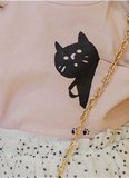 Cat Paws Tee With Pocket