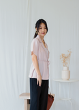 Lovis Button Top In Light Pink