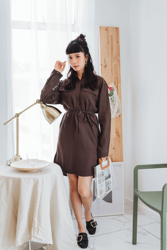 Nessa Button Shirt Dress