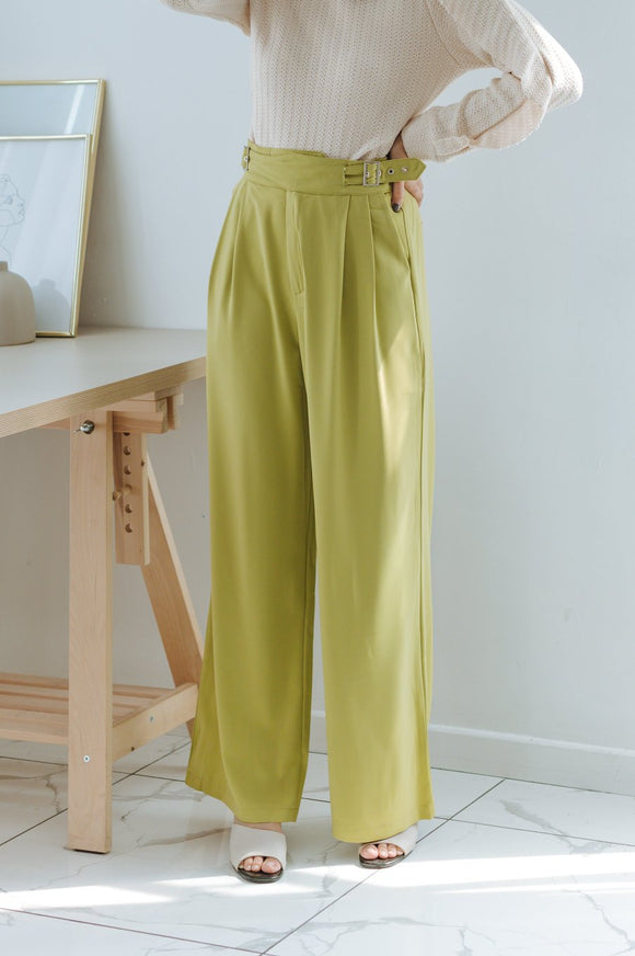 Taylor Belted Straight-leg Pants