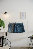Veda Button Through Denim Skirt