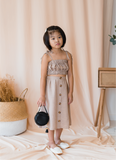 Santune Ruffle Two Piece Set In Brown