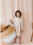 Bell Sleeve Shift Dress in Cream