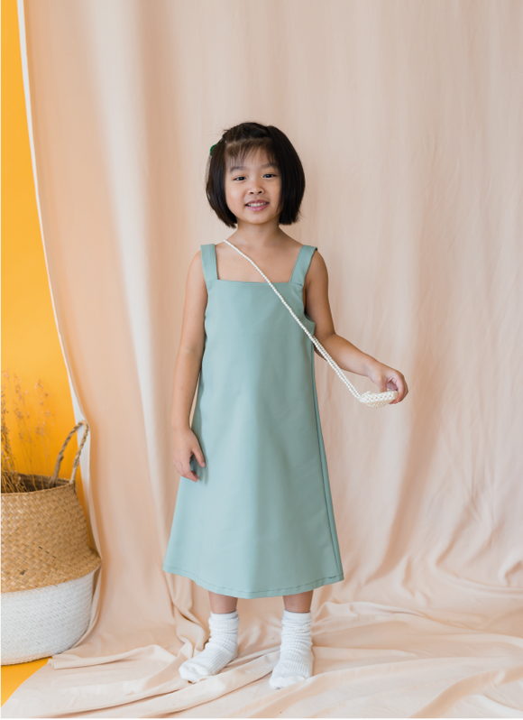 Doratea Strappy Dress in Green