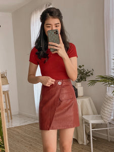 Grynn One Side Button Skirt