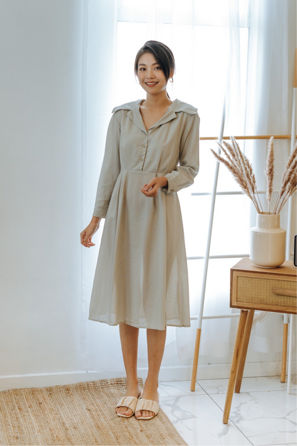 Kalila Collar Long Sleeve Dress