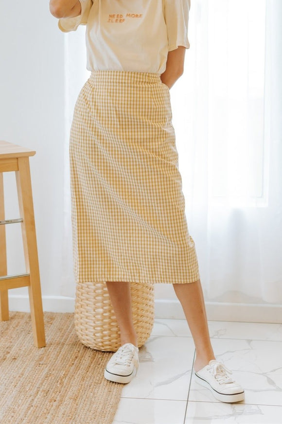 Katylie Checkered Skirt