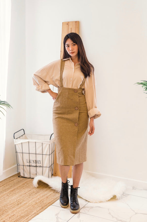 Suspender A-line Skirt