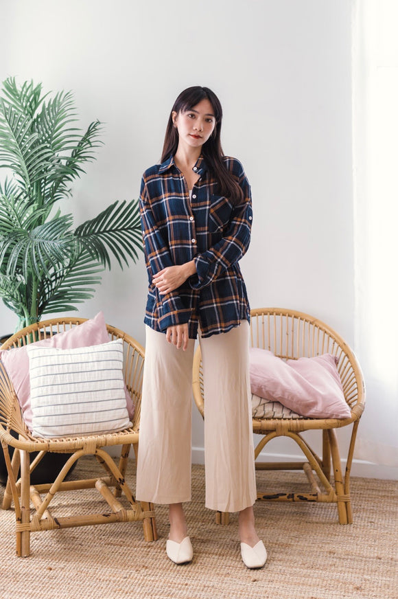 Gladys Check Shirt in Blue
