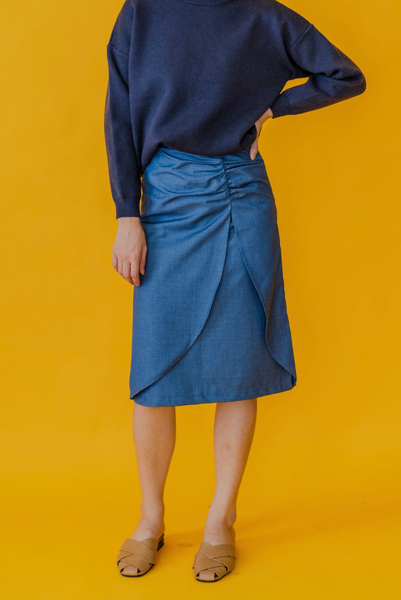 Ruched Details Skirt