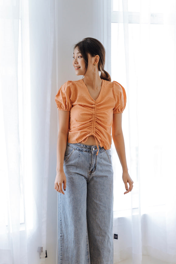 Oranha Front Ruched Top