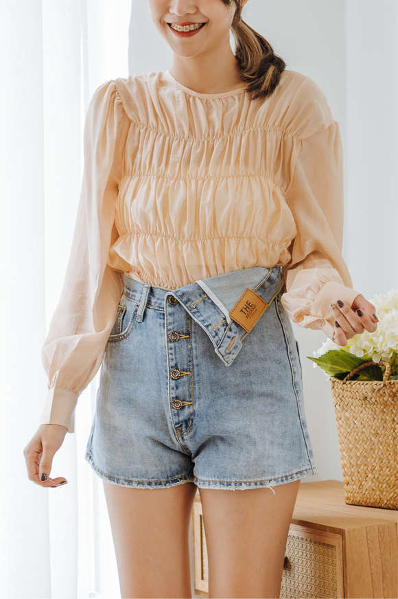 Veran Button Down Short Jeans