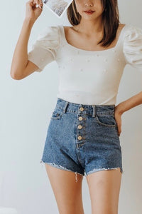 Jerya Button Down Short Denim