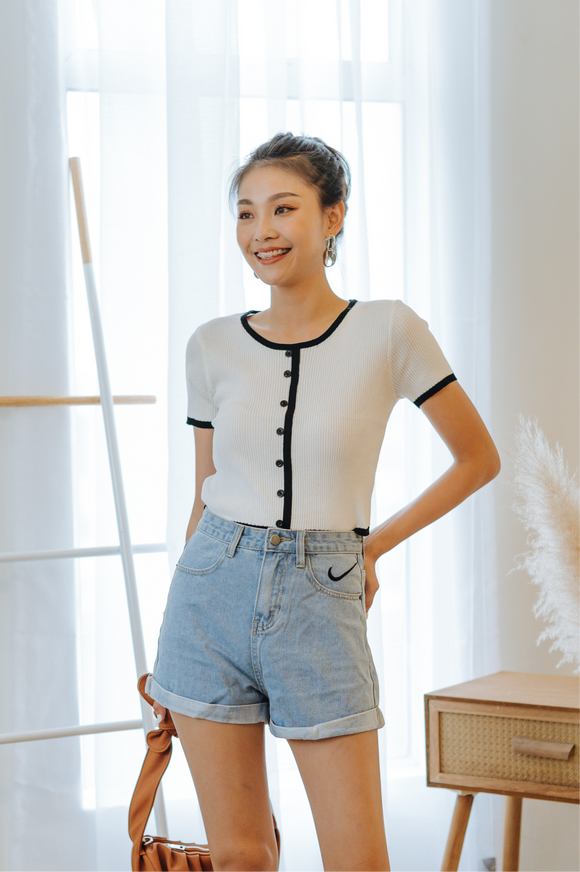 Lillie Button Knit Top