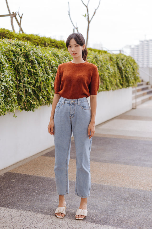 Telia Round Neck Knit Top