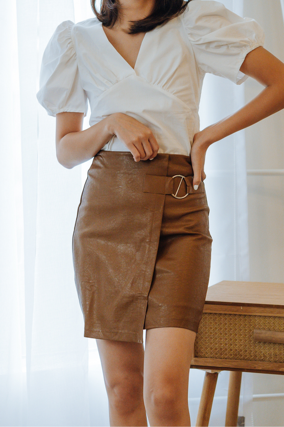 Sylvia Leather Skirt