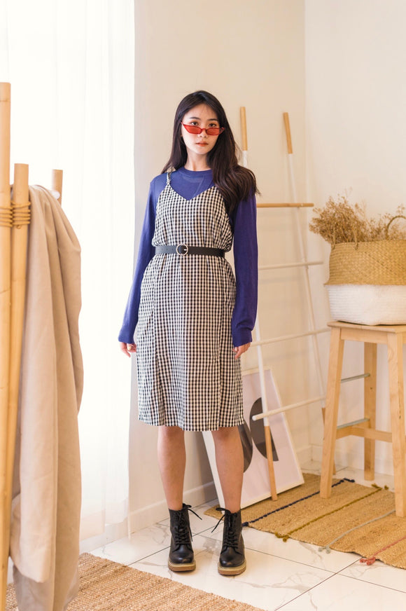Gingham Two Strap Dress