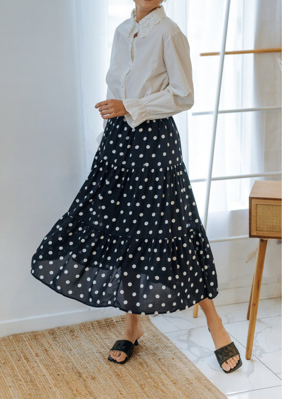 Rayelle Polka Dot Layered Skirt