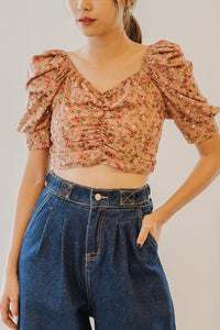 Cheyla Ruched Front Crop Top