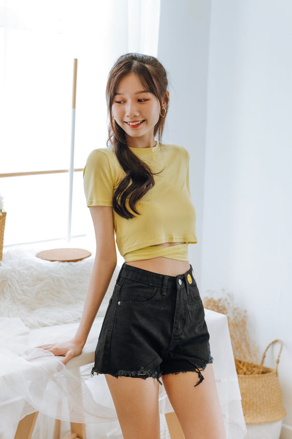Veina Cutout Crop Top
