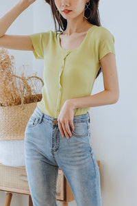 Heren Round Neck Knit Top