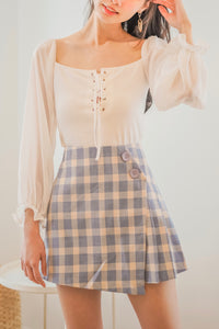 Kimie Checkered Skirt