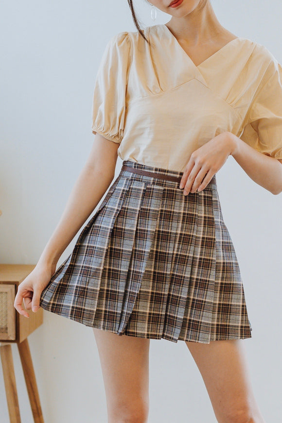 Frenka Checkered Skirt